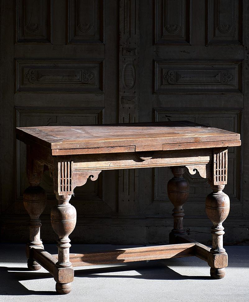 Unikatowy Stół Rozkładany Konsola I Poł Xixw Unikat Antyk 0683