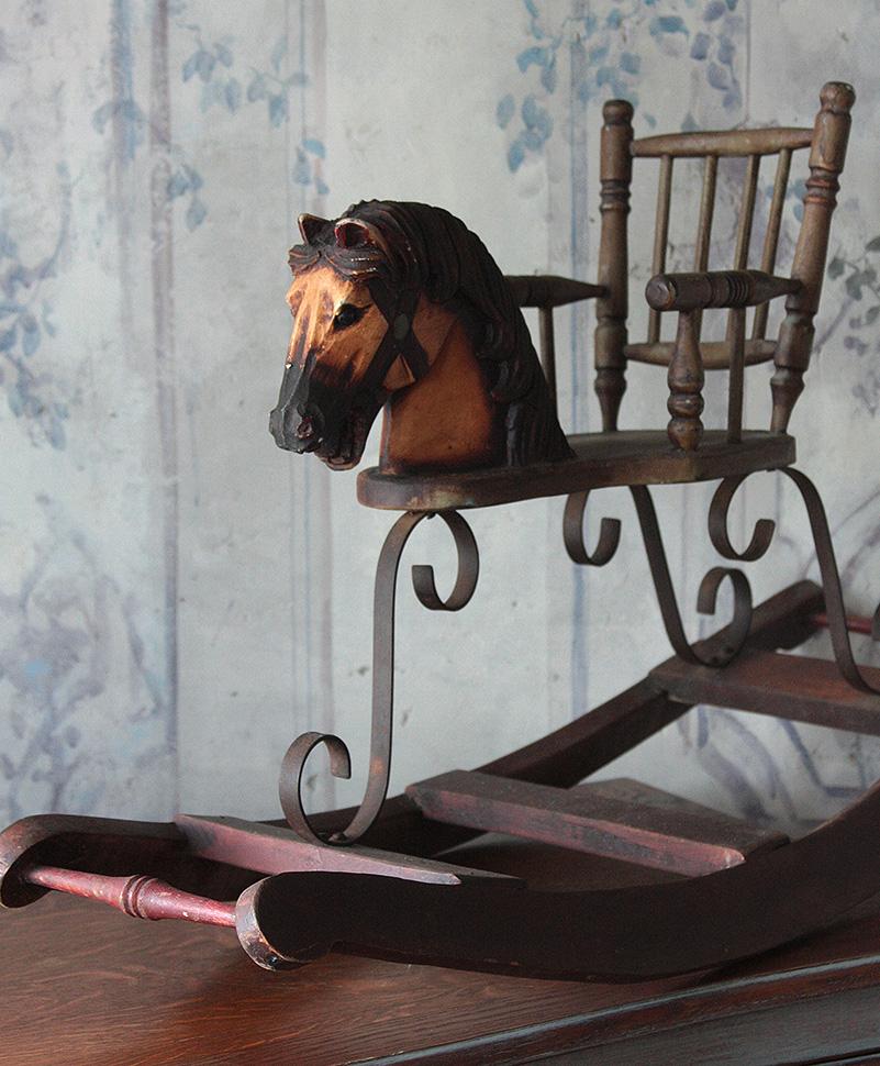 Koń Na Biegunach Drewno Antyk 0580 Empire Antykicom
